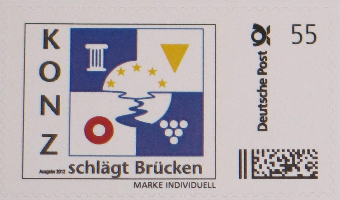 """Die limitierte Briefmarke """"KONZ schlägt Brücken"""" ist da!"""