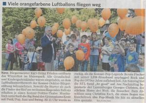 Luftballonwettbewerb 2014 auf dem Winzerfest Konz